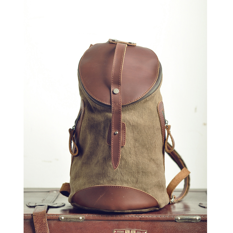 Online Shop free shipping small fresh canvas backpack vintage ...