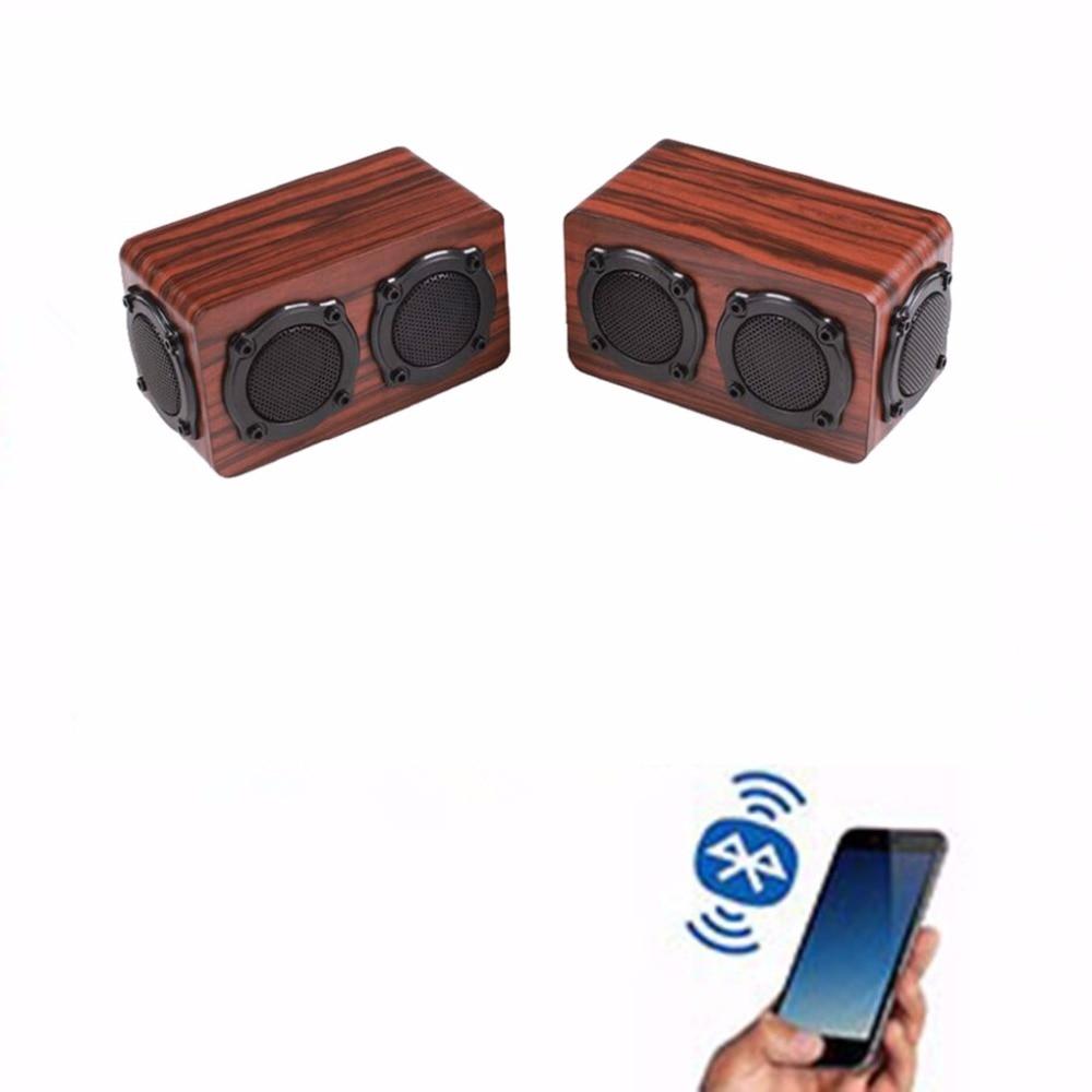 ihens5 X6 Bluetooth speaker Portable Wireless Stereo Wooden Speakers Column Double Bass Treble Loudspeaker for computer phones