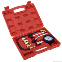 Free delivery New High Quality 1 Set Auto Car Engine Cylinder Pressure Gauge Compression Tester Diagnostic Tool Kit