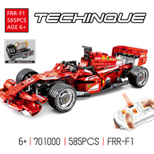 585Pcs FRR-F1 Technic Remote Control RC Racing Car Racer Electric Building Blocks LegoINGLs Bricks Playmobil Toys for Children aiboully 3335 technic f1 racer building bricks blocks toys for children game car formula 1 compatible with aiboully 8674
