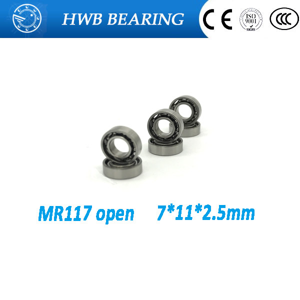 Free Shipping 10 PCS MR117 open 7x11x2.5 mm open type mr117 Miniature Ball Bearings L-1170 open free shipping 10 pcs 684zz 684z 684 bearings 4x9x4 mm miniature ball bearings l 940zz abec5