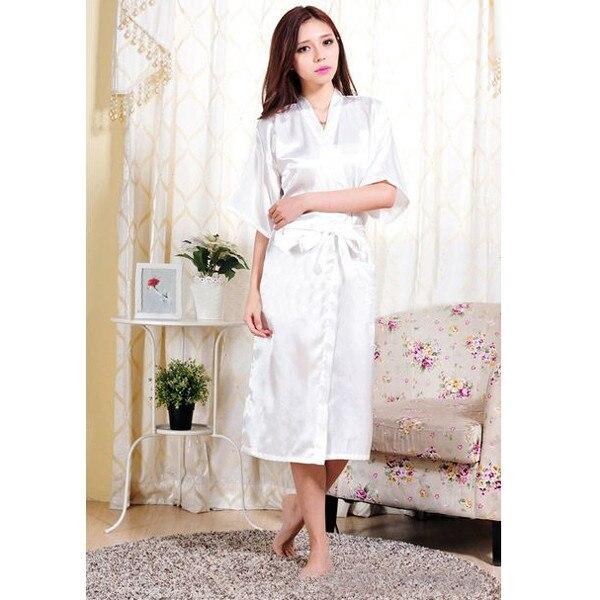 2016 New Arrival Kimono Robes De Seda Das Mulheres Com Decote Em V de Moda Quente Robe De Seda Fêmea Sexy Tentação Sleepwear 2016 Moda Cetim