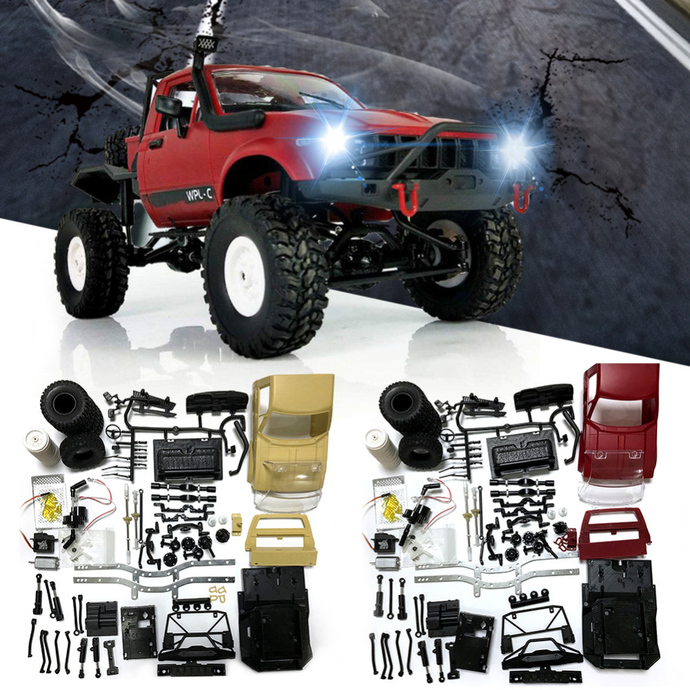 Car Battery Coupons >> 1:16 2.4G Pickup Electric Remote Control Car Simulation Rock Crawler KIT Empty Version Refitted ...