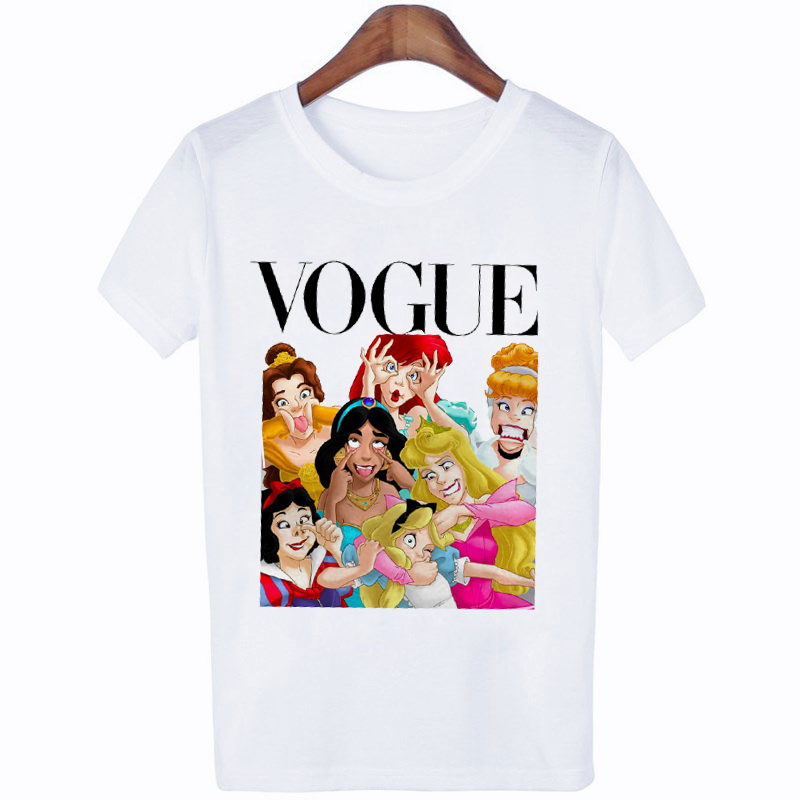 FIXSYS 2019 Summer Style Punk Princess Printed   T     Shirt   Fashion Women   T  -  Shirt   Funny Harajuku Short Sleeve Casual Tees