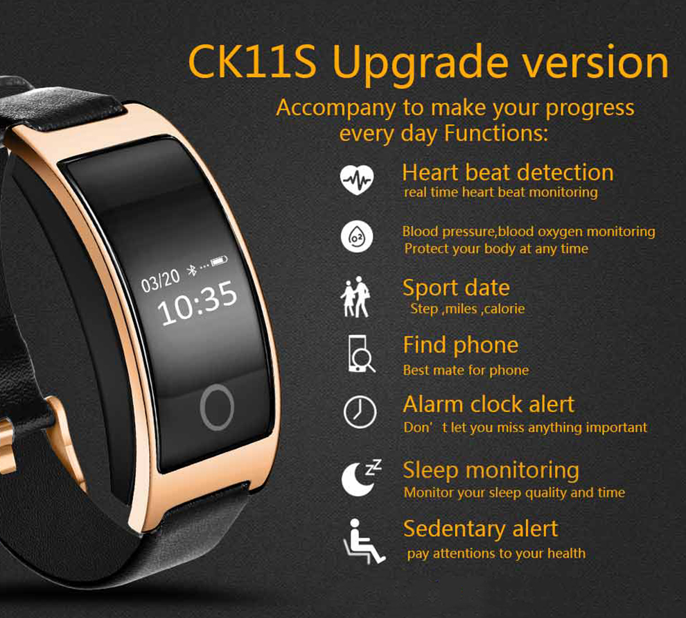 CK11S Smart Band Blood Pressure Heart Rate Monitor Wrist Watch CK11S Smart Band Blood Pressure Heart Rate Monitor Wrist Watch HTB1KE