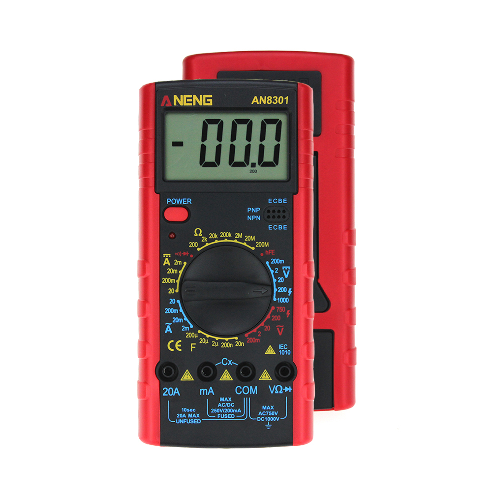 ANENG AN8301 Portable Digital Multimeter capacitor tester esr meter testers automotive electrical dmm transis clip test zt102