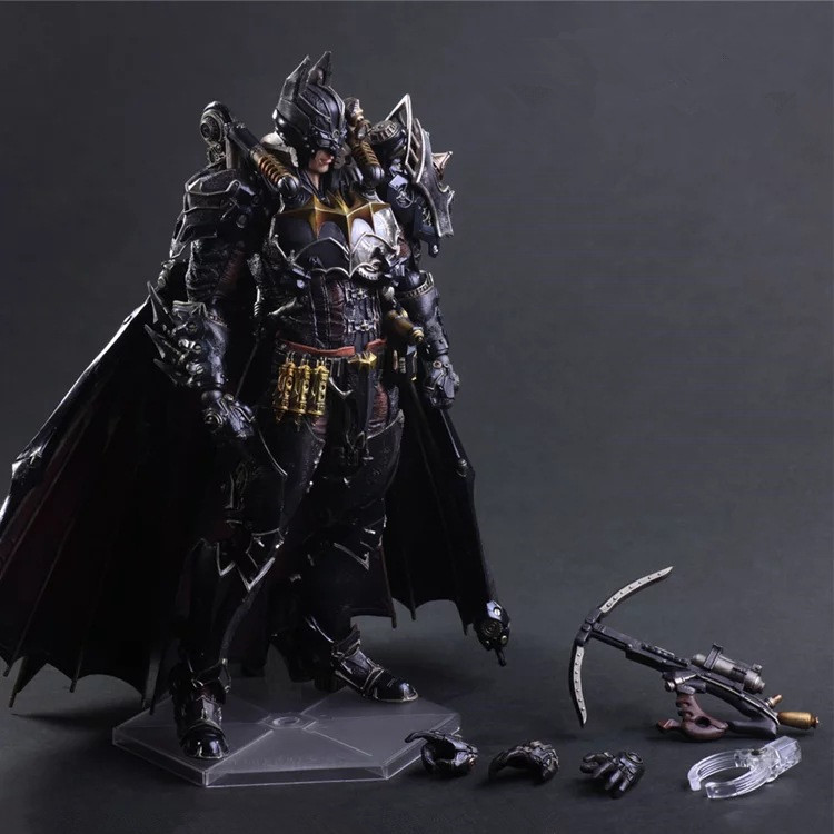 Huong Movie Figure 27 CM Play Arts KAI Batman Timeless Steam Punk PVC Action Figure Collectible Toy shfiguarts batman injustice ver pvc action figure collectible model toy 16cm kt1840
