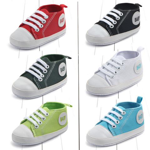 New Canvas Classic Sports Sneakers Newborn Baby Boys Girls First Walkers Shoes Baby Shoes Breathable Canvas Shoes Pakistan