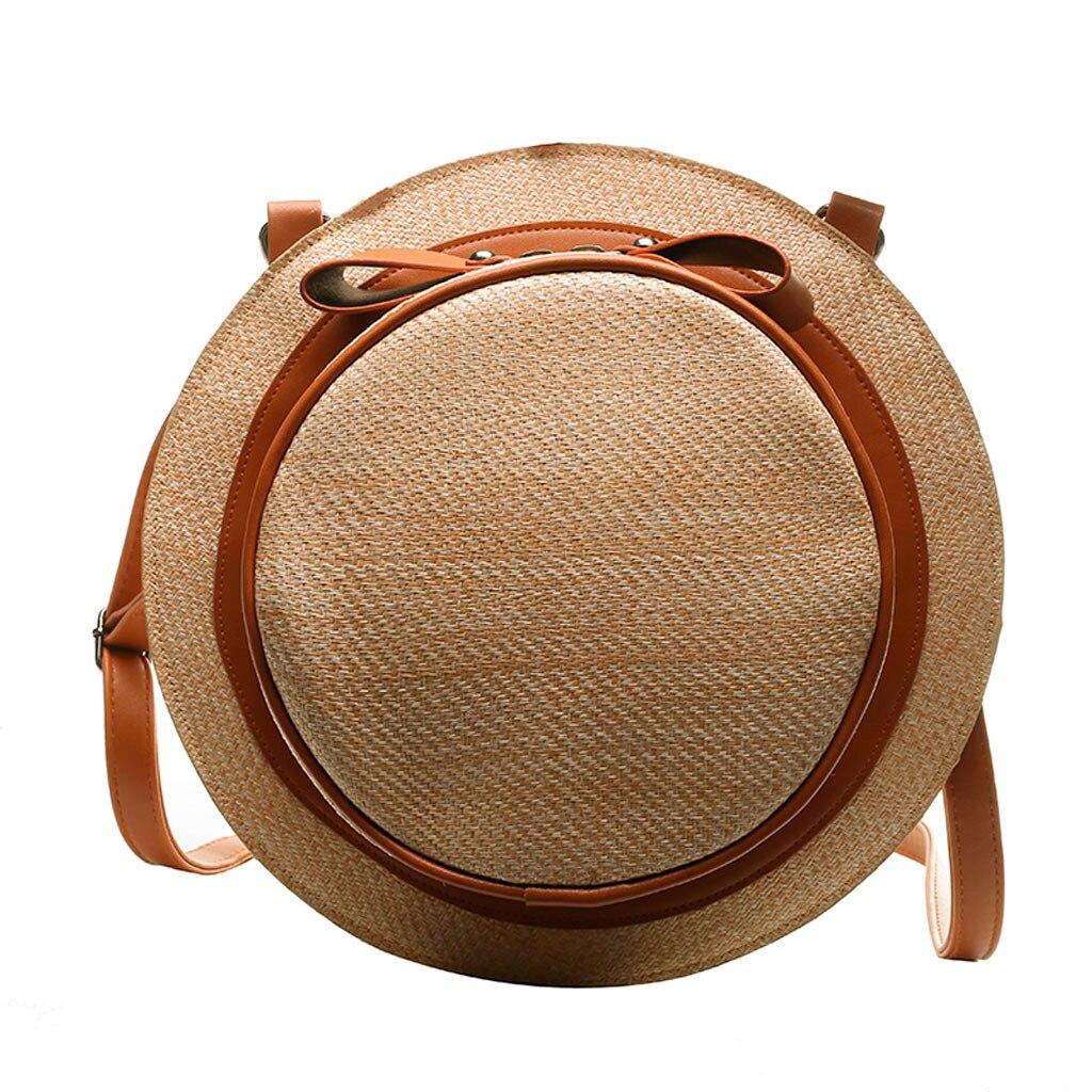 Messenger Handbags Rattan Crossbody-Bag Shoulder Fashion Summer Women Ladies Bow Straw