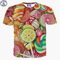 Mr.1991 marca más nuevo estilo camiseta de las muchachas de moda lemon/diamante 3d impreso embroma la camiseta de manga corta chica chicas tops dt27