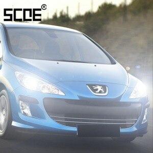 Для Peugeot 206 207 208 301 307 308 408 508 607 807 SCOE, 2 шт., супер галогенная лампа ближнего света для стайлинга автомобиля, теплый белый цвет