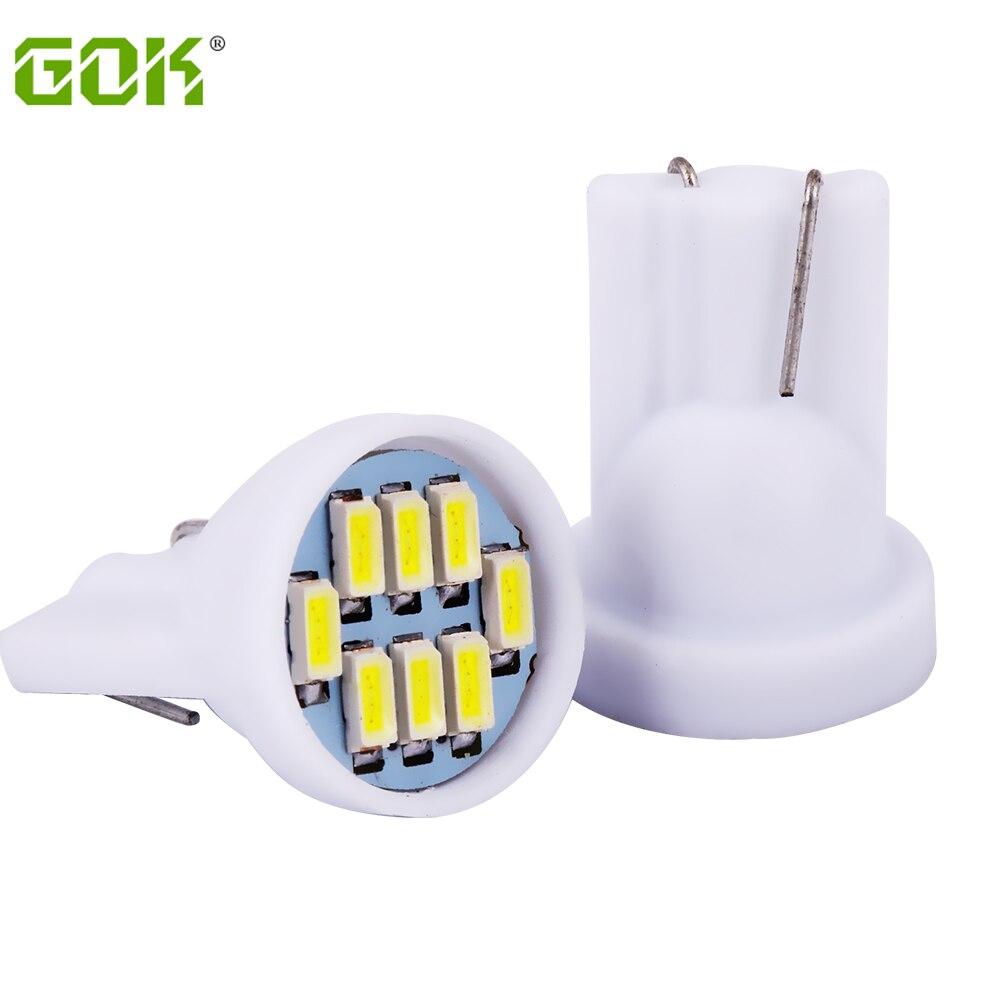 Wholesale 100pcs/lot white T10 194 168 192 W5W 3014 8smd super bright Auto led car lighting/t10 wedge 8led auto lamp