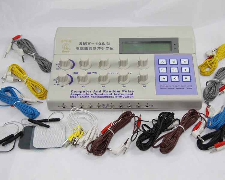 Hwato SMY-10A Nerve Muscle Stimulator Computer Random Pulse 10 Channel Electronic Acupuncture Therapeutic TENS EMS Massage hwato sdz ii therapeutic massage nerve and muscle stimulator massager electronic pulse needle set