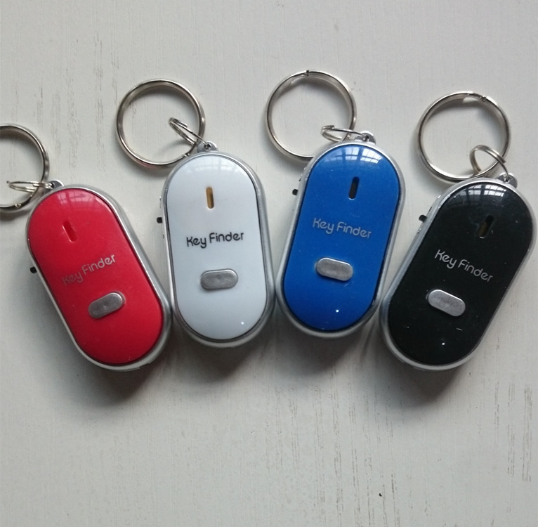 500pcs Keyfinder Sound Control Whistle Locator Key Finder with keychain,free shi