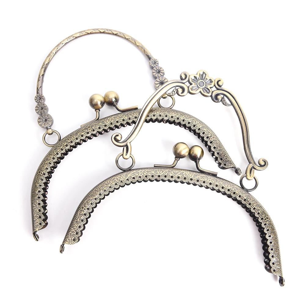 2 Sizes 16.5cm Metal Handbag Handle Frame Kiss Clasp Lock Handle Arch For DIY Purse Bag Fashion New Fashion Handle DIY Craft