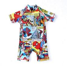 Children Swimwear One Piece Minions Bathing Suit Batman Swimming Boys Captain America Kids Sport Beachwear Baby Swimsuit