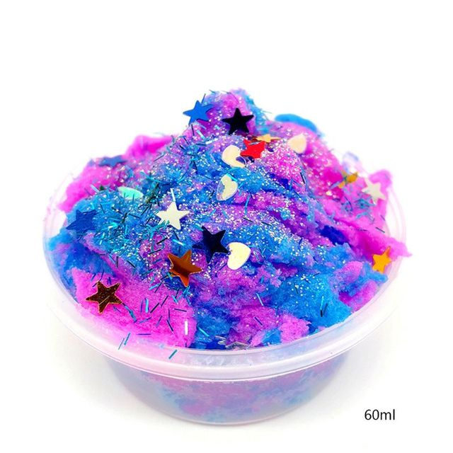 Gorgeous 3D Fluffy Foam Clay Slime No Borax DIY Soft Cotton Slime Toy Kids Toy
