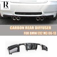 E92 E93 M3 Carbon Fiber Rear Bumper Lip Diffuser Spoiler for BMW E92 M3 Coupe E93 M3 Convertible 2006 2012 (Can't fit E90 M3)