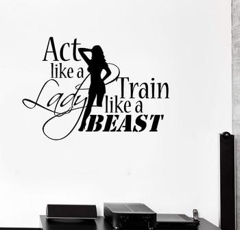 Фитнес-любитель Бодибилдинг Фитнес виниловые наклейки на стену фитнес-клуб Женская Фитнес-Спальня украшение дома Наклейка на стену 2GY5