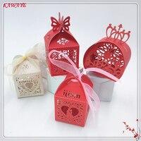50 قطع تاج ضيوف الزفاف مربع الحلوى هدية العام الجديد مربع استحمام الطفل لصالح حزب كاندي صندوق الزفاف الديكور 6ZT84