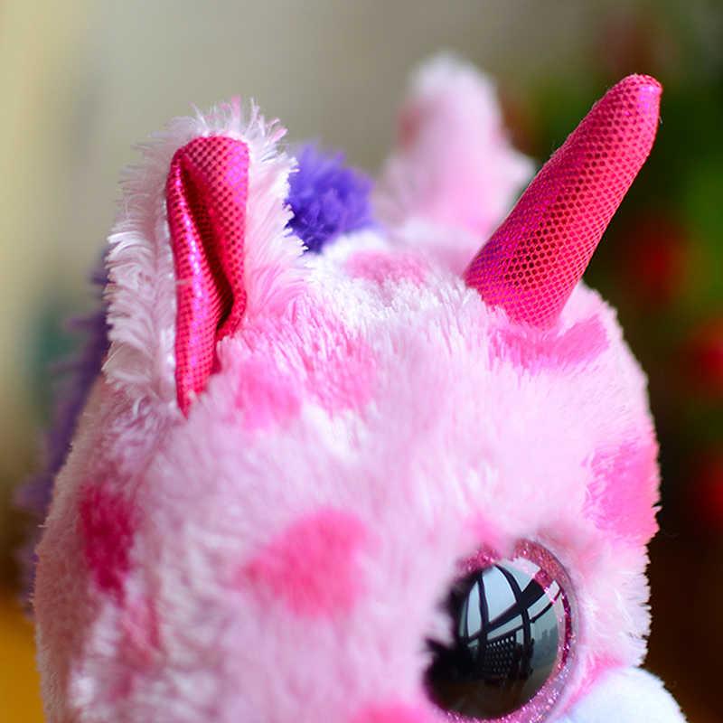 Boos Дети Плюшевые игрушки большие глаза TY сахарный пирог Розовый Единорог милые детские подарки Kawaii мягкие игрушки/Животные Beanie милый подарок