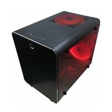PC Gamer корпус для охлаждения компьютер небольшой мини воздушный шасси для Материнские платы ITX вертикальный блок питания ATX Gabinete полностью алюминиевая защита от пыли защитная рама