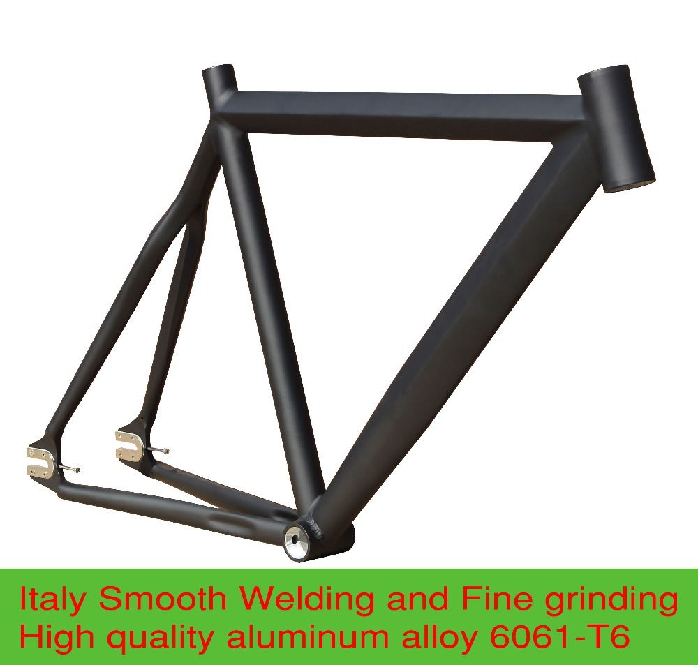 crazy price 5255cm smooth welding aluminium alloy fixie fixed gear frame track bike bicycle