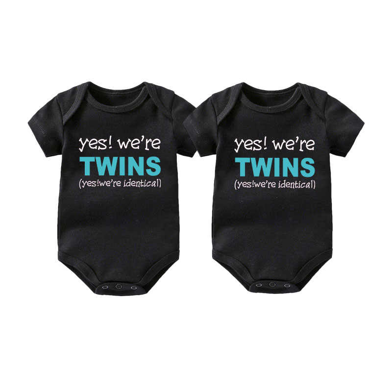 a6cd230c9a9e0 Culbutomind Twins Baby clothes Set Yes, we are twins Boy Girl Shirt or Baby  Style Clothing Bodysuit twin Baby Clothing