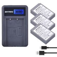 3 pièces PS BLS5 BLS 5 BLS5 BLS 50 BLS50 Batterie + Chargeur LCD pour Olympus PEN E PL2, E PL5, E PL6, E PL7, OM D E M10, E M10 II, Stylus1