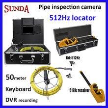 50 medidor de 512 hz sonda e teclado localizador tubo de inspeção câmera com gravação de áudio de vídeo 512 hz transmissor e 512 hz receptor