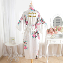 BZEL Matron Of Honor Women Bathrobe Bridal Party Gift Floral
