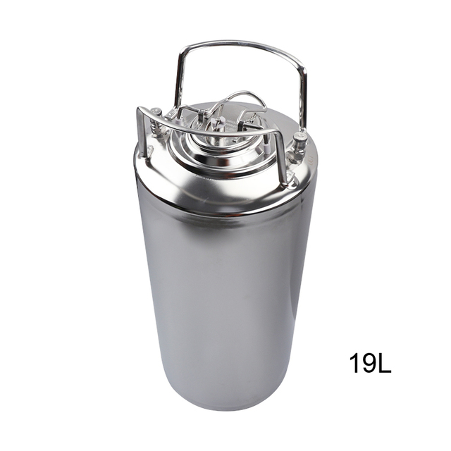 19L New Stainless steel Ball Lock Cornelius Style Beer OB Keg With Metal Handles