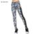B. BANG Mulheres Floral Imprimir Leggings Tarja Ocasional Capris Mulher Legging Calças com Bolso Cintura Alta Elástico
