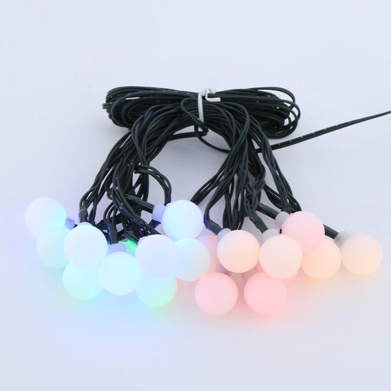 5m 20/30LED Solar String Light Ball Bulb Heart Water Drops Fairy Lighting Strings Garden Christmas Decor Lamp