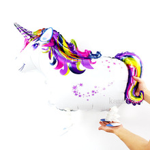 10pcs/lot Unicorn Party Balloon Animal pet walking ballons Birthday Decoration Kids Cute Toys baby shower supplies