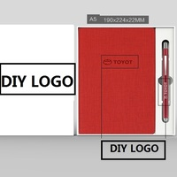 4Y4A 1pcs FREE DIY LOGO A5 Business Notebook Custom Printed Logo Imitation PU Creative Meeting