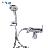 Frap New Classic Style Basin Faucet With Hand Shower Cold And Hot Water Mixer 75 Degree