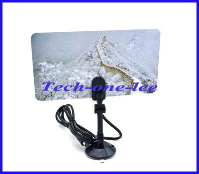 1 unids HD / DTV UHF / VHF / FM TV Digital antena interior con lechón ganancia 35 dBI envío gratis
