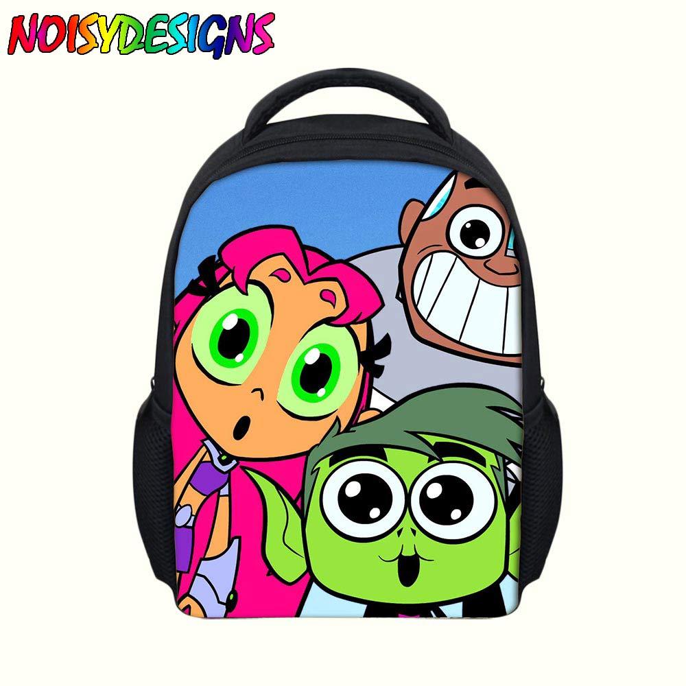 a8cd63c7df 14inch Popular Cartoon Teen Titans Go Printing Backpack Boys School Daily  Backpacks Little Children Backpack KidsMochila