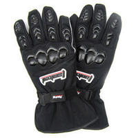 Top Guantes Fashion Glove WARM CLOTH Full Finger Black moto men Motorcycle Gloves Motorcycle Protective Gears Motocross Glove