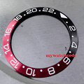 39.8mm high quality red & black bezel insert for 43mm GMT watch Be6