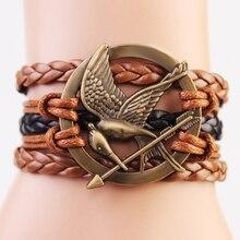 Fashion Male Multilayers Leather Bracelets Vintage Charm Braided Wrap Leather Bracelets Jewelry For Men Women B0020
