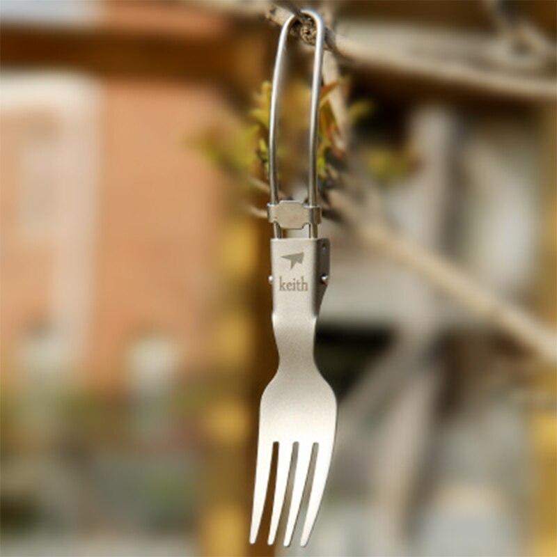 Кейт Лидер продаж Титан Вилы Кемпинг Кухонная посуда складной ложка Вилы Ножи здоровый, нетоксичных для Пеший Туризм лагерь Tour CLIMDING kt306