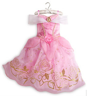 New 2015 Cinderella Fashion Girls Princess Dress For Summer Party Clothing Children Clothes