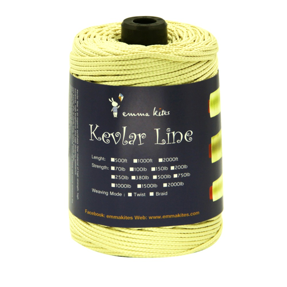 2.8mm Kite Line String Braided Kevlar Line for Fishing Camping Tactical Backpacking Outdoor Cord emmakites 500ft 152m 1500lb kevlar line for single line kite flying braided fishing line outdoor camping hiking garden cord