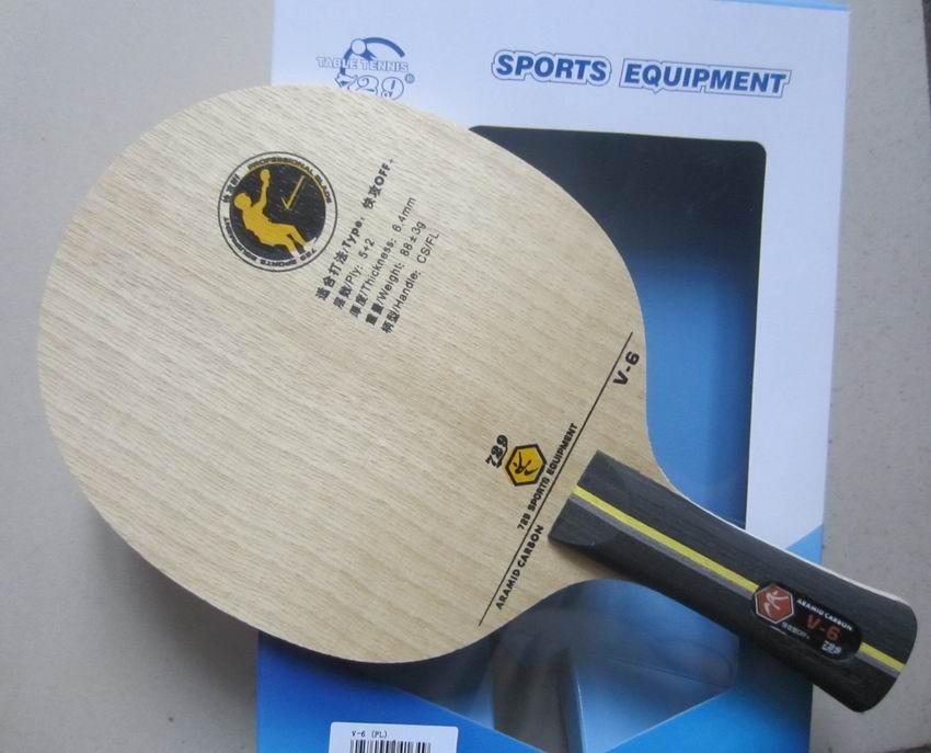 D'origine 729 V-6 tennis de table lame tennis de table raquettes carbone lame sports de raquette rapide attaque