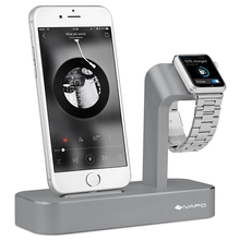 iVAPO 2 in 1 Charging Dock For Apple Watch Stand Solid Aluminum Charging Station With Phone Stand For iPhone 7 6 6s plus 6s 5