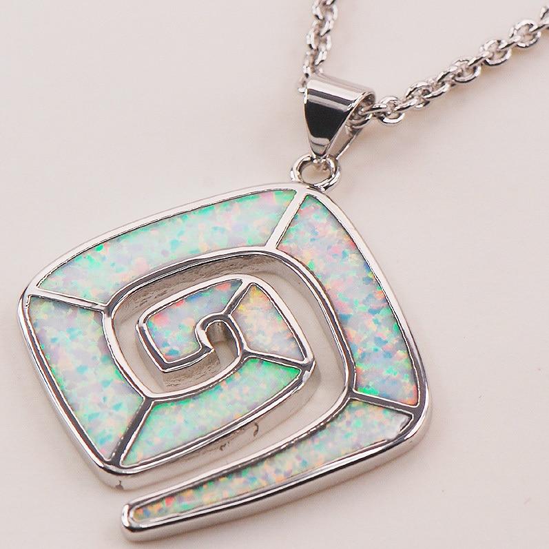 Bright White Fire Opal 925 Sterling Silver Fashion Jewelry Pendant P160