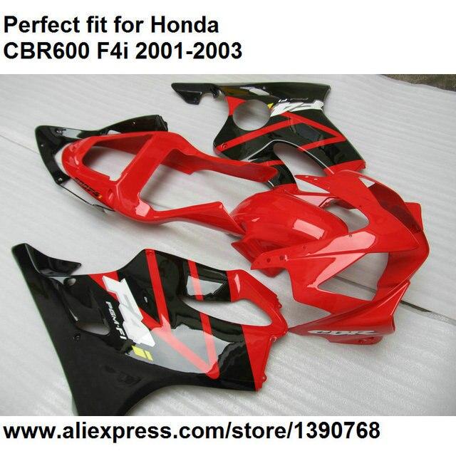 Injection molding fairing for Honda CBR 600 F4i 2001 2002 2003 red black fairings kit CBR600F4i 01 02 03 OL78