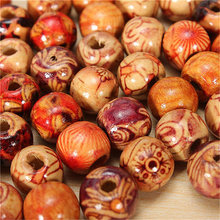 Cute Multipurpose Painted Wood Beads Set for DIY Craft